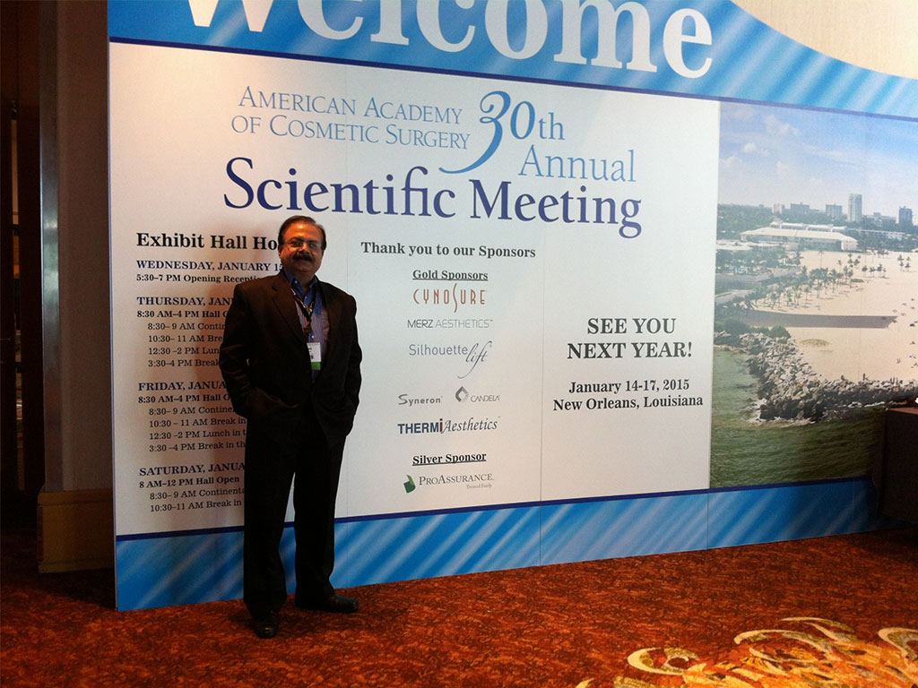 30TH ANNUAL MEET OF AMERICAN ACADEMY OF COSMETIC SURGERY 2014 AT FORT LAUDERDALE FLORIDA USA